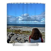 Looking At The Beautiful View Shower Curtain