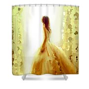 Looking At The Window #0074 Shower Curtain