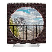 Looking Brick Shower Curtain