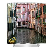 Looking Down A Venice Canal Shower Curtain