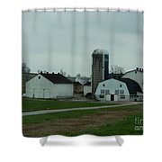 Looking Down An Amish Lane Shower Curtain