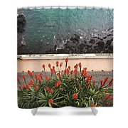 Looking Down, Angra Do Heroismo, Terceira Island Of Portugal Shower Curtain by Kelly Hazel