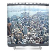 Looking Down At New York 2015  Shower Curtain