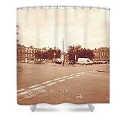 Looking Down Brunswick Square C York Street Bristol England Shower Curtain