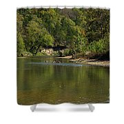 Looking Down Bryant Creek Shower Curtain