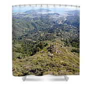 Looking Down From The Top Of Mount Tamalpais 2 Shower Curtain