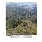 Looking Down From The Top Of Mount Tamalpais Shower Curtain