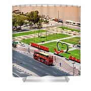 Looking Down Happy Dubai Shower Curtain