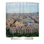 Looking Down On Barcelona From The Sagrada Familia Shower Curtain
