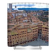 Looking Down On Il Campo Shower Curtain