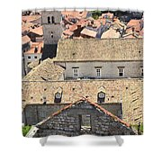 Looking Down On Old Dubrovnik Shower Curtain