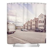 Looking Down Redland Road D Bristol England Shower Curtain