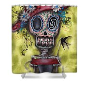 Looking For Love Shower Curtain by Abril Andrade Griffith