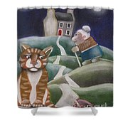 Looking For Marmaduke Shower Curtain