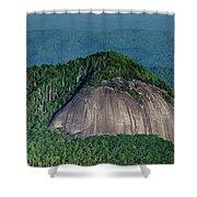 Looking Glass Rock Mountain In North Carolina Shower Curtain