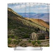Looking Out Over The Hills Shower Curtain