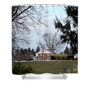 Looking Out Over The Horse Farm Shower Curtain