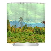 Looking To The Mountains Shower Curtain