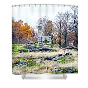 Looking Towards The Top Of Little Round Top Shower Curtain