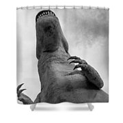Looking Up At T-rex Shower Curtain
