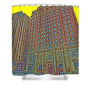Looking Up In Love Park Shower Curtain