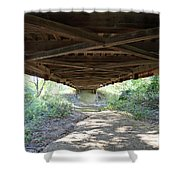 Looking Up Nevins Bridge Indiana Shower Curtain