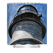 Looking Up Portland Head Light Shower Curtain