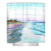 Looking Up The Beach Shower Curtain