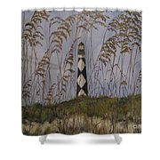 Lookout Lighthouse, Nc Shower Curtain