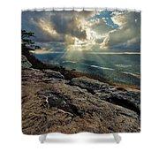Lookout Mountain Sunset Shower Curtain