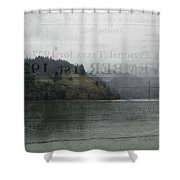 Lookout Point Lake Shower Curtain