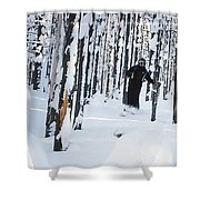 Lookout Trees Shower Curtain