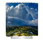 Looming Storm Clouds Shower Curtain