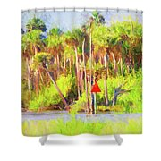 Loop Mile Marker 26 Shower Curtain