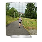 Loop Trail Runner Shower Curtain