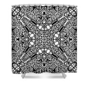 Loops Black And White No. 1 Shower Curtain