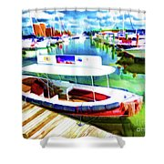 Loose Cannon Water Taxi 1 Shower Curtain by Lanjee Chee