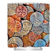 Loose Change Shower Curtain