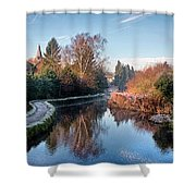 Loose Mill Pond Shower Curtain