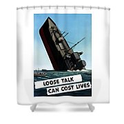 Loose Talk Can Cost Lives Shower Curtain by War Is Hell Store