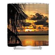 Lopez Point Sunset Shower Curtain