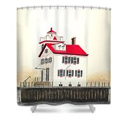 Lorain Lighthouse Shower Curtain