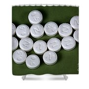 Lorazepam 0.5 Mg Tablets Shower Curtain