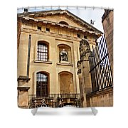 Lord Clarendon's Statue, Clarendon Building, Oxford Shower Curtain