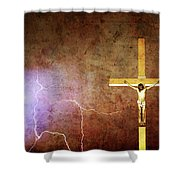 Lord Have Mercy - Crucifixion Of Jesus -2011 Shower Curtain