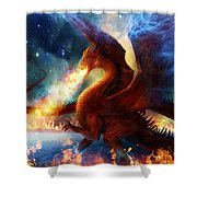 Lord Of The Celestial Dragons Shower Curtain by Philip Straub