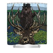 Lord Of The Manor With Hidden Pictures Shower Curtain