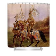Lord Of The Tournament Shower Curtain by Edward Henry Corbould