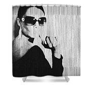 Loren Black Shower Curtain