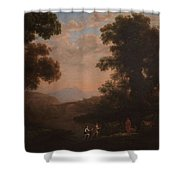 Lorena, Claudio De Chamagne, 1600 - Roma, 1682 Ford Of A River Ca. 1636 Shower Curtain